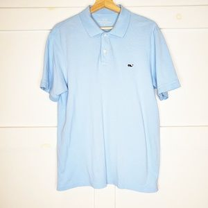 Vineyard Vines Blue Whale Golf Polo Shirt Medium